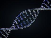 Cadena de la DNA Fondo científico abstracto representación 3d stock de ilustración