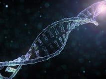 Cadena de la DNA Fondo científico abstracto representación 3d ilustración del vector