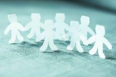 Cadena de la gente del trabajo en equipo Imagen de archivo libre de regalías