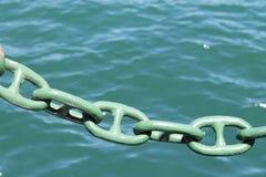 Cadena de la nave del mar Foto de archivo libre de regalías