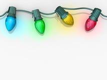 Cadena de las luces de la Navidad Fotos de archivo