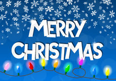 Cadena de las luces de la Navidad Imágenes de archivo libres de regalías