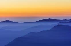 Cadena de montaña Fotos de archivo