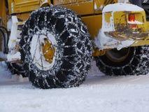 Cadena de nieve del neumático imagen de archivo