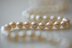 Cadena de perlas Fotos de archivo