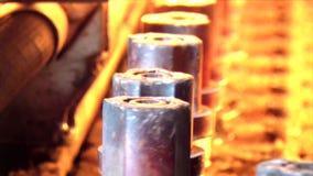 Cadena de producción Bastidor de botellas almacen de video