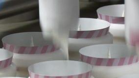 Cadena de producción del helado metrajes