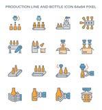 Cadena de producción icono Imagen de archivo