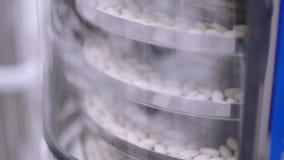 Cadena de producción para las píldoras almacen de metraje de vídeo
