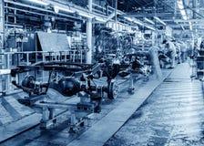 Cadena de producción auto Foto de archivo libre de regalías