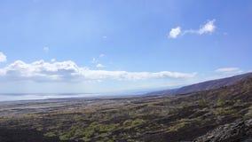 Cadena del camino de los cráteres Foto de archivo libre de regalías