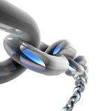 cadena del cromo 3D Foto de archivo