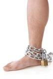 Cadena en el tobillo Fotografía de archivo libre de regalías