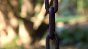 Cadena oxidada, cadena del metall almacen de metraje de vídeo