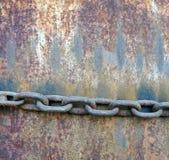 Cadena pesada en fondo y textura del metal del grunge Fotografía de archivo
