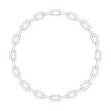 Cadena redonda del metal libre illustration