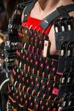 Cadena tradicional del metal del samurai Fotografía de archivo