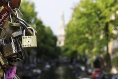Cadenas à Amsterdam Image stock