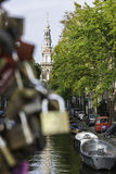 Cadenas à Amsterdam Images libres de droits