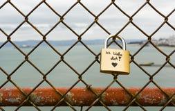 Cadenas allemand d'amour Photographie stock libre de droits