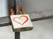 Cadenas avec l'icône de coeur Photo stock