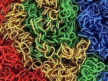 Cadenas cuatro colores Fotos de archivo libres de regalías