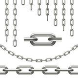 cadenas curvadas, inconsútiles y alambrada ilustración del vector