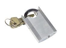 Cadenas débloqué et clé Image libre de droits