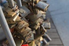 Cadenas d'amour à Budapest Photographie stock libre de droits