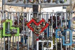 Cadenas d'amour à Budapest Photos libres de droits