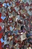 Cadenas d'amour à Lisbonne Photos libres de droits
