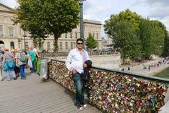 Cadenas d'amour de PARIS Image stock