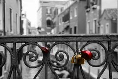 Cadenas d'amour de Venise Photo libre de droits