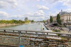 Cadenas d'amour, Paris Images stock