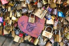 Cadenas d'amour, Paris Photo stock