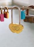 Cadenas de coeur Photo libre de droits