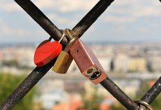 Cadenas de l'amour photo stock