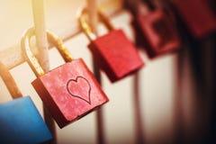 Cadenas de l'amour Photo libre de droits