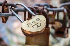 Cadenas de l'amour Photos libres de droits