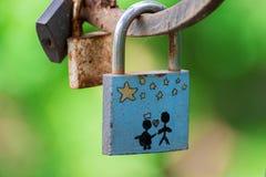 Cadenas de l'amour et de l'unité des coeurs Photo libre de droits