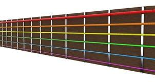 Cadenas de la guitarra Imagen de archivo libre de regalías