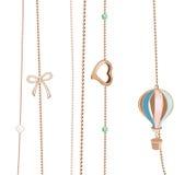 Cadenas de la joyería Imagen de archivo libre de regalías