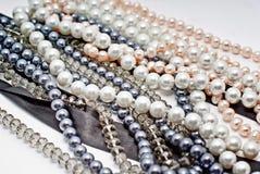 Cadenas de perlas Foto de archivo