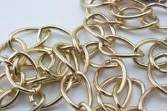 Cadenas del oro Foto de archivo libre de regalías