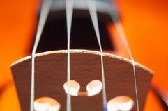 Cadenas del violín Fotografía de archivo libre de regalías
