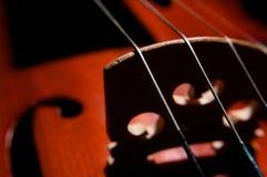 Cadenas del violín Imágenes de archivo libres de regalías