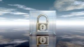 Cadenas en cube en verre Photo stock