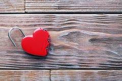 Cadenas en forme de coeur Photo stock