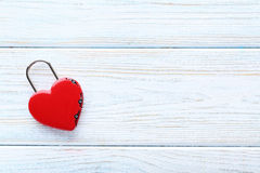 Cadenas en forme de coeur Photo libre de droits