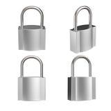 cadenas en métal 3d comme concept de sécurité Photographie stock